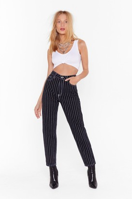 Nasty Gal Womens It's Gonna Be Line High-Waisted Denim Jeans - Black - 14