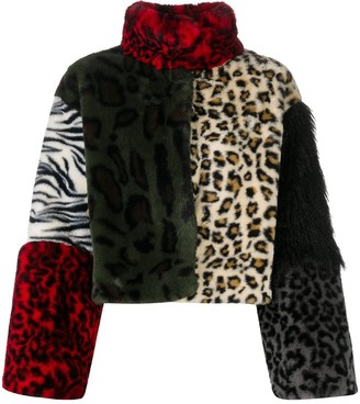 Boutique Moschino Animal Print Cropped Jacket