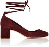 Loeffler Randall Women's Clara Ankle-Tie Pumps-Burgundy