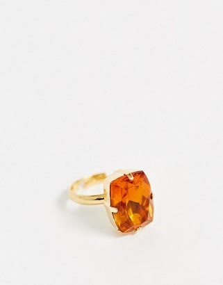 Krystal London Pillow Stone Ring