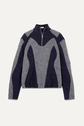 GmbH Atrisia Two-tone Paneled Wool-felt Sweater - Gray