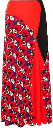 Marni Paneled Printed Jersey Maxi Skirt