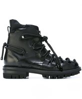 DSQUARED2 lace detail boots - men - Calf Leather/Leather/rubber - 41