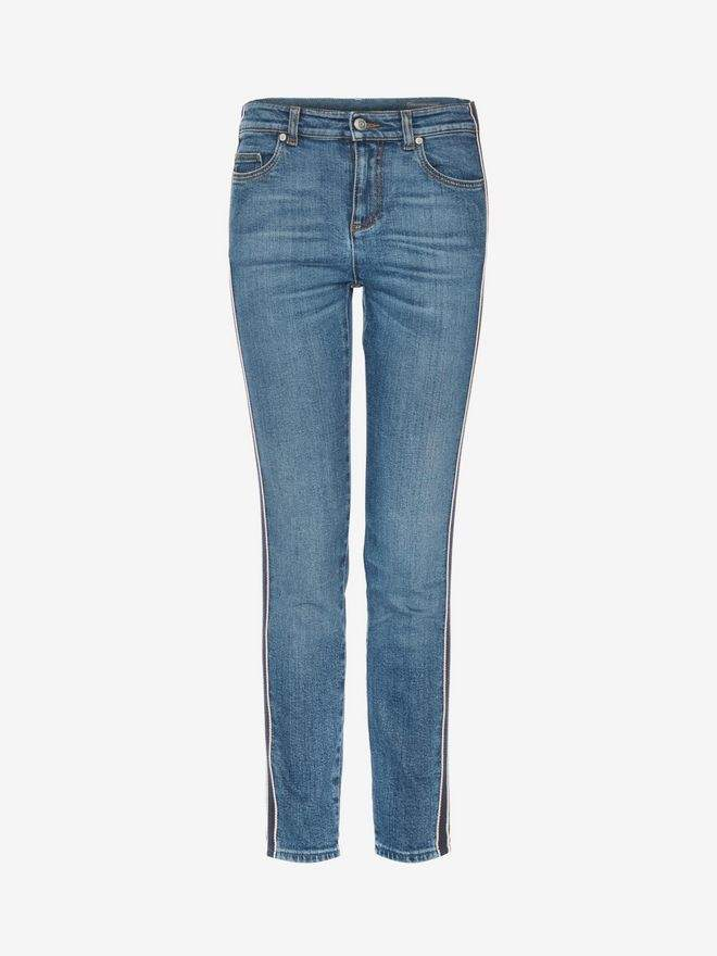 Alexander McQueen Selvedge Stripe Denim Pants