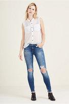 True Religion Halle Mid Rise Super Skinny Womens Jean