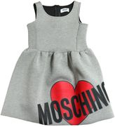 Moschino Logo Printed Doubled Jersey Dress
