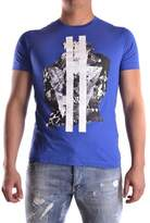 Les Hommes Men's Blue Cotton T-shirt.
