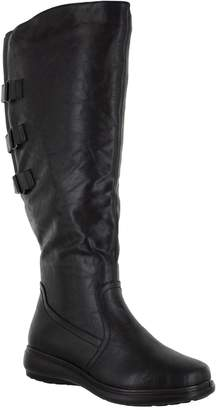 Easy Street Shoes Three-Strap Wide-Calf Tall Boots -Presley Plus
