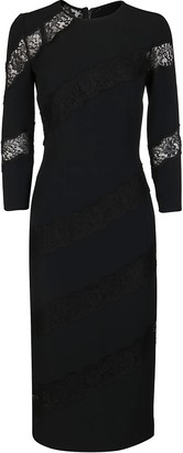 Dolce & Gabbana Lace Insert Midi Dress