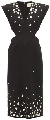 Christopher Kane Crystal-embellished Cut-out Crepe Dress - Womens - Black