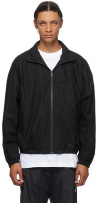 Marcelo Burlon County of Milan Black Logo Tech Track Jacket