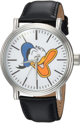 Disney Men's Donald Duck Analog-Quartz Watch with Leather-Synthetic Strap