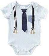 Edgehill Collection Baby Boys Preemie-6 Months Suspender Tie Bodysuit