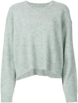 MM6 MAISON MARGIELA distressed cropped jumper - women - Acrylic/Wool/Alpaca - XS