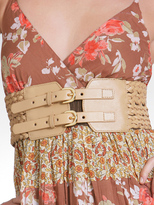 Leather Woven Corset Belt