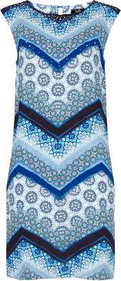 Wallis Blue Embellished Printed Shift Dress