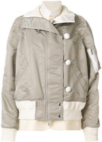 Sacai dual layer bomber jacket - women - Cotton/Nylon/Polyester/Cupro - 1