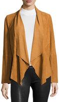 Bagatelle Draped Suede Jacket, Camel