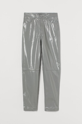 H&M Faux Leather Pants - Gray