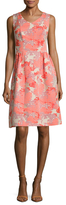 Carolina Herrera Jacquard Flared Dress