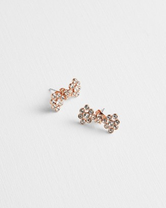 Ted Baker BRINNI Crystal bow stud earrings