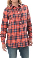Hatley Popover Plaid Tunic Shirt - Long Sleeve (For Women)