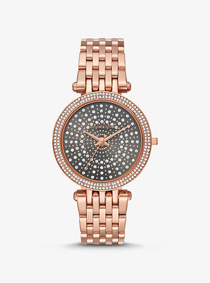Michael Kors Darci Celestial Pave Rose Gold-Tone Watch - Rose Gold