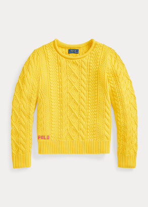 Ralph Lauren Aran-Knit Cotton Sweater