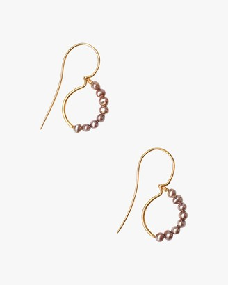 Chan Luu Pearl Loop Drop Earrings