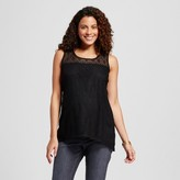 MaCherie Maternity Crochet Tank Top Black