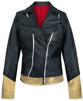 Disney Black Widow Faux Leather Moto Jacket for Women by Her Universe