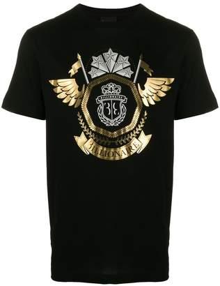 Billionaire metallic logo T-shirt