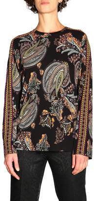 Etro Sweater Long-sleeved Jersey Sweater With Torero Pattern By