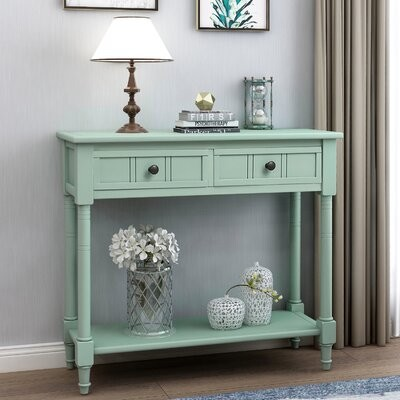 Thumbnail for your product : Alcott Hill Mcgruder 35.43'' Console Table Color: Retro Blue