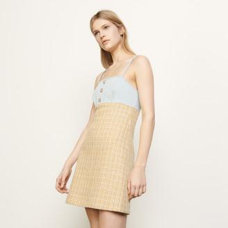 Sandro Tweed dress with straps