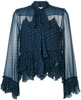 See by Chloe embroidered frill blouse