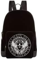 Balmain Velvet Logo Backpack