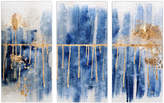 Oliver Gal Path to You Gold Triptych (Acrylic)