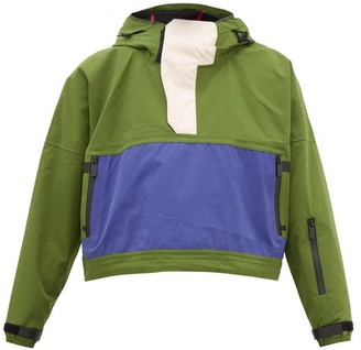 TEMPLA Cropped Bio-shell Hooded Anorak - Womens - Green