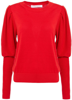 Carolina Herrera Gathered Silk And Cotton-blend Sweater