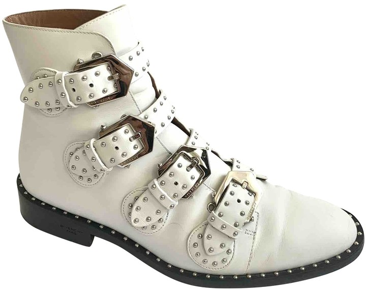Givenchy White Leather Ankle boots
