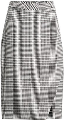 Banana Republic Plaid Bi-Stretch Pencil Skirt
