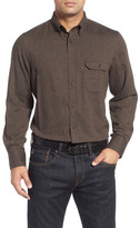 Nordstrom Men&s Shop Herringbone Sport Shirt (Big)