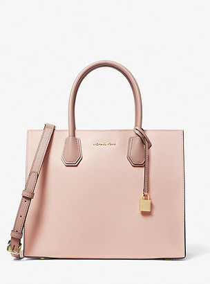 MICHAEL Michael Kors MK Mercer Large Color-Block Saffiano Leather Tote Bag - Sfp/ltcr/fwn - Michael Kors