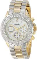 August Steiner Women's AS8031TTG Crystal Chronograph Bracelet Watch