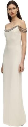 Stella McCartney OFF-THE-SHOULDER CADY DRESS