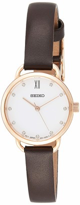 Seiko Womens Analogue Quartz Watch with Leather Strap SUR698P2