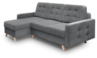 """George Oliver Vegas Sofa Cassel 93"""" Left Hand Facing Sectional Upholstery Color: Gray"""