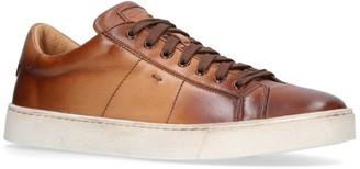 Santoni Leather Gloria Sneakers