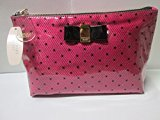 Victoria's Secret Pink W Black Dots and Bow Make up Case